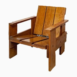 Oak Armchair by Gerrit Thomas Rietveld, 1950s