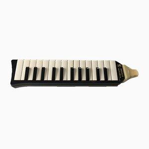 Piano 26 Hohner Melodica alemán vintage con estuche original, años 60