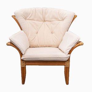 Vintage Italian Rattan Lounge Chair, 1980s