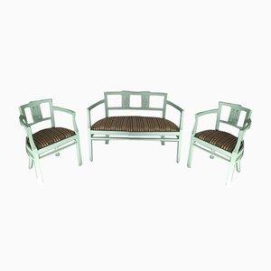 Vintage Restauriertes Sofa und Sessel von J & J Kohn, 3er Set
