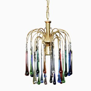 Murano Glass Drop Ceiling Lamp, 1960s