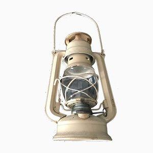 Czechoslovakian Electrified Metal Meva Oil Lamp / Lantern