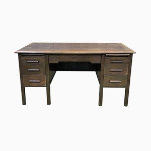 English Oak Flat Desk, 1960s