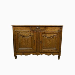Large Louis XV Solid Oak Buffet, Circa 1750