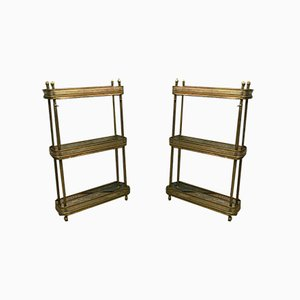 Maison Jansen Style Bronze and Gilt Brass Serving Tables, 1940s, Set of 2