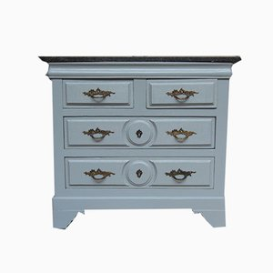Small Vintage Chest of Drawers with Granite Top