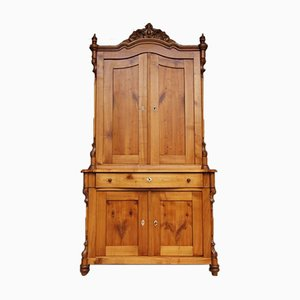Mueble Biedermeier antiguo de madera de cerezo