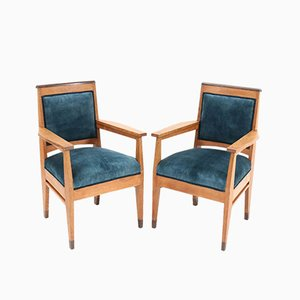Art Deco Hague School Oak Armchairs by Anton Lucas Leyden, 1920s, Set of 2
