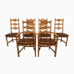 Dining Chairs by Henning Kjærnulf for Eg Furniture, 1970s, Set of 6