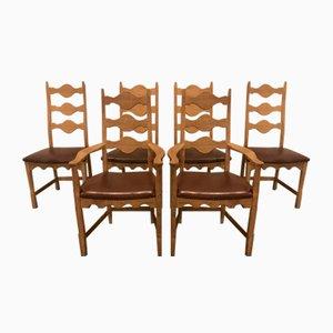 Esszimmerstühle von Henning Kjærnulf für Eg Furniture, 1970er, 6er Set