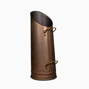 Antique English Edwardian Copper Coal Fireside Bucket