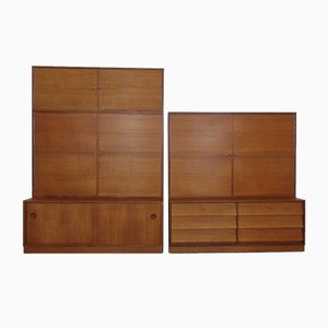 Danish Modular Cabinet System, 1960s, Set of 5