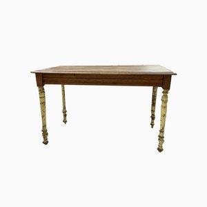 Mesa de granja o escritorio de nogal