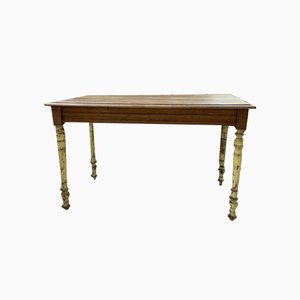 Yellow Walnut Farmhouse Table or Writing Desk