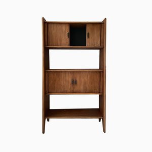 Vintage Tropical Style Bamboo Bookcase / Storage Unit
