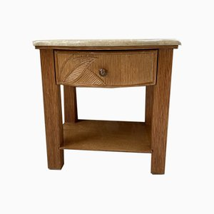 Vivai Del Sud Style Tropical Bamboo Nightstand