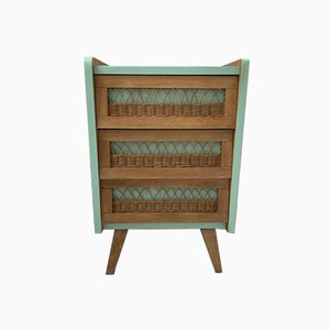 Vintage Rattan Chest of Drawers