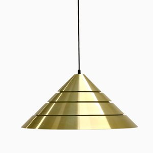 Lámpara colgante cónica de Hans Agne Jakobsson, años 60