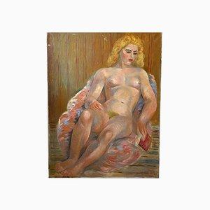Junod, Pintura al óleo, Mujer desnuda, años 50
