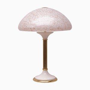 Glas & Messing Tischlampe, 1970er
