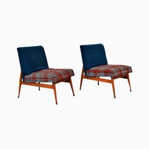 Blaue Karierte Stühle von Fratelli Reguitti, 2er Set