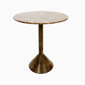 Italian Round Granite & Marble Side Table