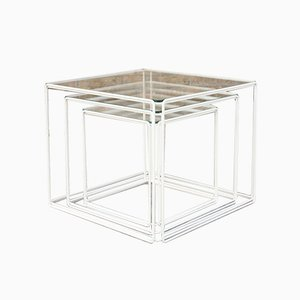 Tables Gigognes Isoceles par Max Sauze pour Atrow, France, 1970s, Set de 3