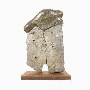 Brutalistische Skulptur aus Bronze & Blei, Ändern Sie die Art zu denken, Kenji Horiuchi, Japan, 1984