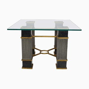 Italian Marble & Glass Coffee Table