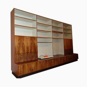 Mueble de pared danés grande de palisandro, años 60. Juego de 4