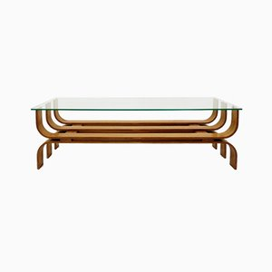 Tavolino da caffè in legno piegato