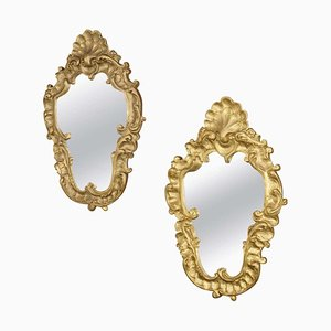 Antique Rocaille / Plaster Mirrors, Set of 2