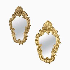 Specchi Rocaille / intonaco antichi, set di 2