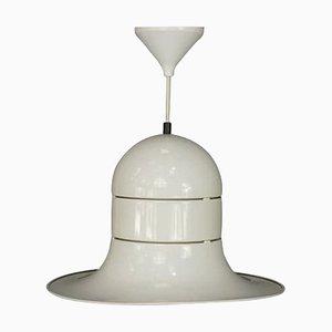 Weiß Lackierte Metall Deckenlampe von Boulanger SA, 1960er