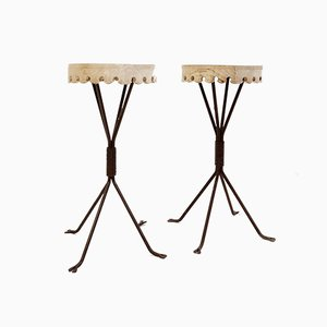 Iron & Wood Side Tables