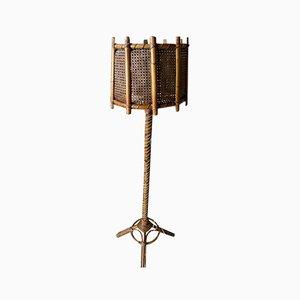 Rattan Tulip Lamp, 1960s