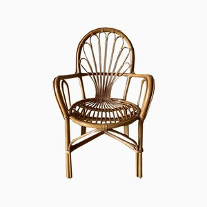 Rattan Armchairs, 1980s, Set of 4