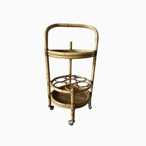 Rattan Serving Trolley, 1960s