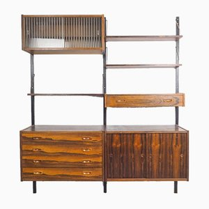 Rosewood PS Modular Wall Unit from Randers Møbelfabrik, 1960s, Set of 10
