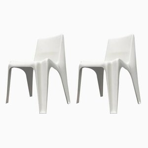 Mid-Century German Stackable Dining Chairs by Helmut Bätzner for Bofinger, Set of 2