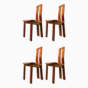 Italian Chairs, 1950s, Set of 4