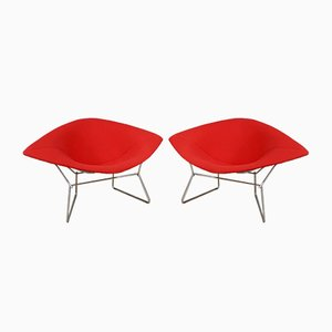 Large Model 420 Diamond Chairs by Harry Bertoia for Knoll, 1950s, Set of 2