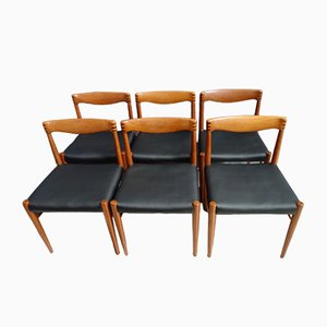 Sedie da pranzo in teak di HW Klein per Bramin, Danimarca, anni '60, set di 6