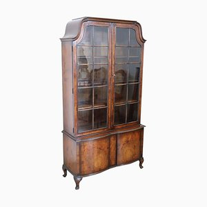 Vintage English Briar Walnut Bookcase, 1930s