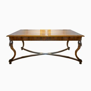 Empire Walnut Table Depicting Mythological Figures