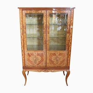 Inlaid Wood Display Cabinet, 1950s
