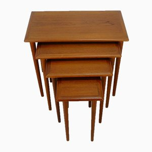 Danish Teak Nesting Tables, 1960s, Set of 4