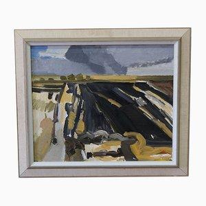 Pintura al óleo moderna de Bengt Sandberg, años 60