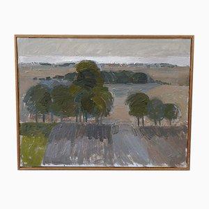 Sven Nilsson, pintura al óleo sueca moderna, óleo sobre lienzo, años 60