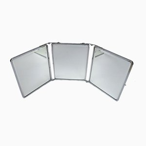 Vintage Art Deco Chrome Folding Triptych Mirror